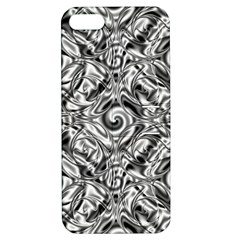 Gray Scale Pattern Tile Design Apple Iphone 5 Hardshell Case With Stand