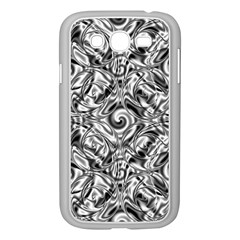 Gray Scale Pattern Tile Design Samsung Galaxy Grand Duos I9082 Case (white)