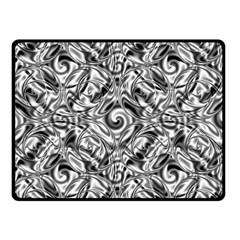 Gray Scale Pattern Tile Design Double Sided Fleece Blanket (small)