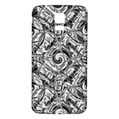 Gray Scale Pattern Tile Design Samsung Galaxy S5 Back Case (White)