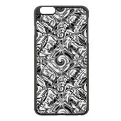 Gray Scale Pattern Tile Design Apple Iphone 6 Plus/6s Plus Black Enamel Case