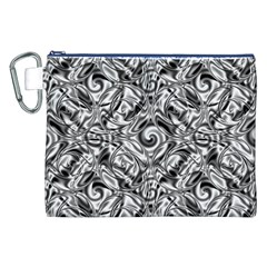 Gray Scale Pattern Tile Design Canvas Cosmetic Bag (XXL)