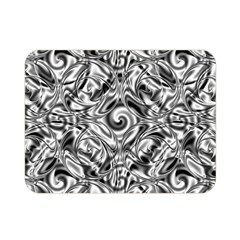 Gray Scale Pattern Tile Design Double Sided Flano Blanket (mini)