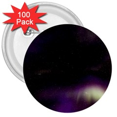 The Northern Lights Nature 3  Buttons (100 Pack)