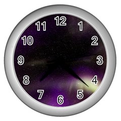 The Northern Lights Nature Wall Clocks (silver)