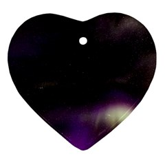 The Northern Lights Nature Heart Ornament (two Sides)