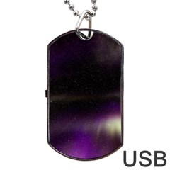 The Northern Lights Nature Dog Tag USB Flash (One Side)