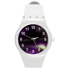 The Northern Lights Nature Round Plastic Sport Watch (m)