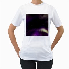 The Northern Lights Nature Women s T Shirt (white)