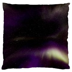 The Northern Lights Nature Large Flano Cushion Case (Two Sides)