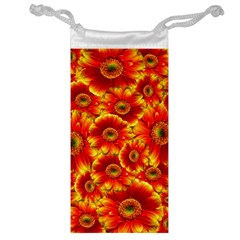 Gerbera Flowers Nature Plant Jewelry Bag