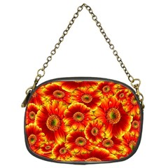 Gerbera Flowers Nature Plant Chain Purses (one Side)