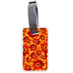 Gerbera Flowers Nature Plant Luggage Tags (two Sides)