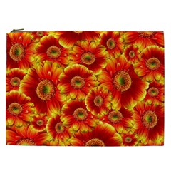 Gerbera Flowers Nature Plant Cosmetic Bag (XXL)