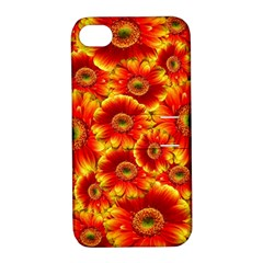 Gerbera Flowers Nature Plant Apple iPhone 4/4S Hardshell Case with Stand