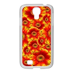 Gerbera Flowers Nature Plant Samsung Galaxy S4 I9500/ I9505 Case (white)
