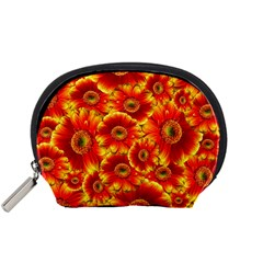 Gerbera Flowers Nature Plant Accessory Pouches (small)
