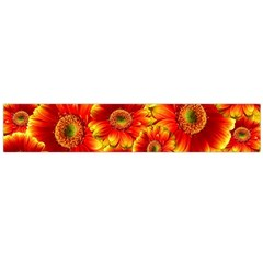 Gerbera Flowers Nature Plant Flano Scarf (Large)