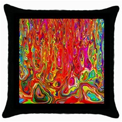 Background Texture Colorful Throw Pillow Case (Black)