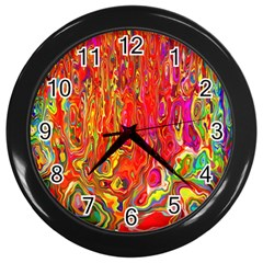 Background Texture Colorful Wall Clocks (black)