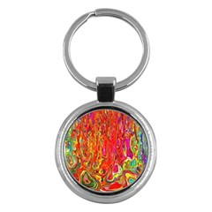 Background Texture Colorful Key Chains (round)
