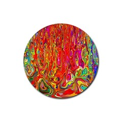 Background Texture Colorful Rubber Coaster (round)