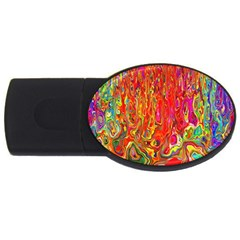 Background Texture Colorful Usb Flash Drive Oval (2 Gb)
