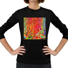 Background Texture Colorful Women s Long Sleeve Dark T-Shirts