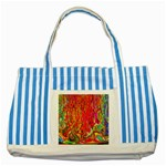 Background Texture Colorful Striped Blue Tote Bag Front
