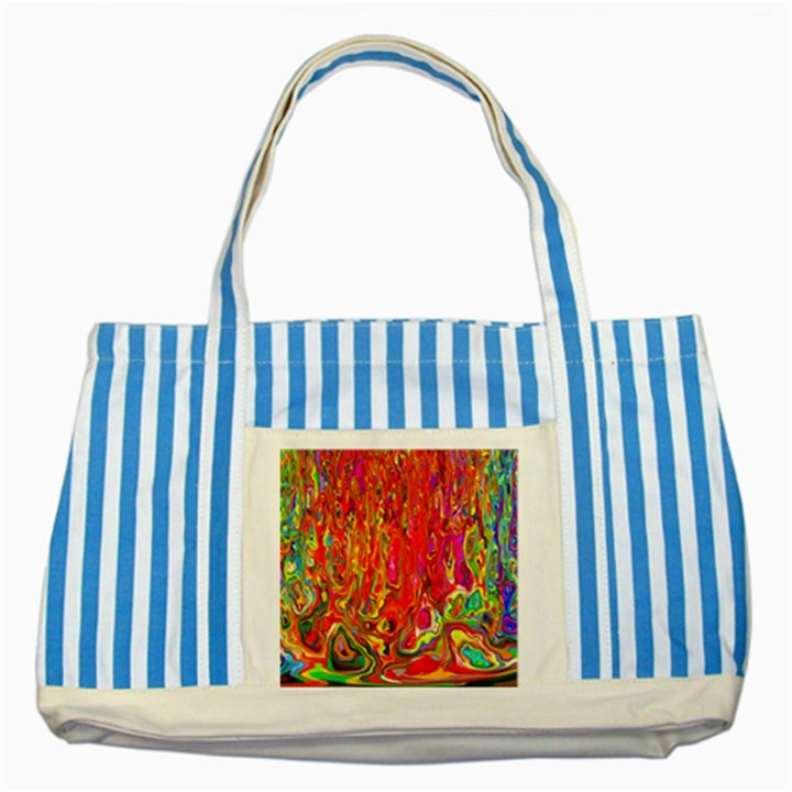Background Texture Colorful Striped Blue Tote Bag
