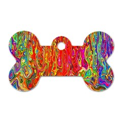 Background Texture Colorful Dog Tag Bone (two Sides)