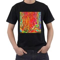 Background Texture Colorful Men s T-Shirt (Black)