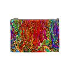Background Texture Colorful Cosmetic Bag (Medium)