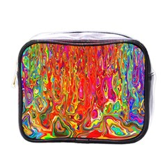 Background Texture Colorful Mini Toiletries Bags