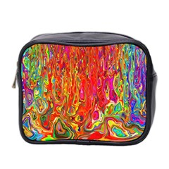 Background Texture Colorful Mini Toiletries Bag 2 Side