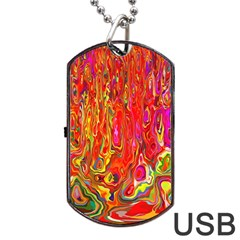Background Texture Colorful Dog Tag Usb Flash (two Sides)