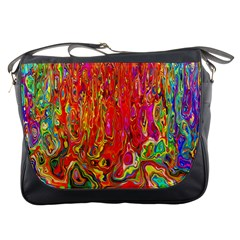 Background Texture Colorful Messenger Bags