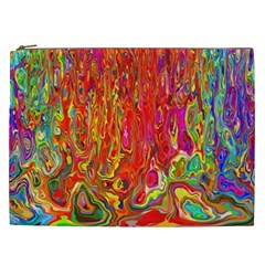 Background Texture Colorful Cosmetic Bag (xxl)