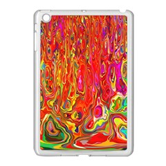 Background Texture Colorful Apple Ipad Mini Case (white)
