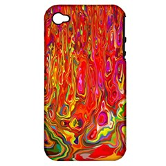 Background Texture Colorful Apple Iphone 4/4s Hardshell Case (pc+silicone)