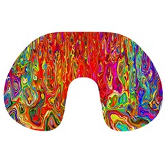Background Texture Colorful Travel Neck Pillows