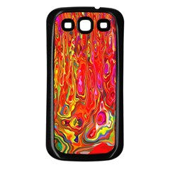 Background Texture Colorful Samsung Galaxy S3 Back Case (black)