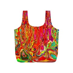 Background Texture Colorful Full Print Recycle Bags (s)