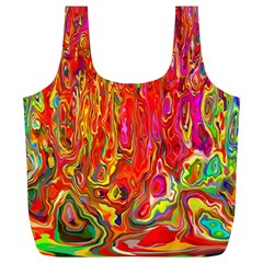 Background Texture Colorful Full Print Recycle Bags (l)