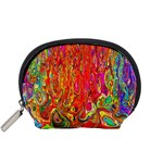 Background Texture Colorful Accessory Pouches (Small)  Front