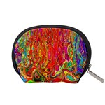 Background Texture Colorful Accessory Pouches (Small)  Back