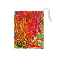 Background Texture Colorful Drawstring Pouches (medium)