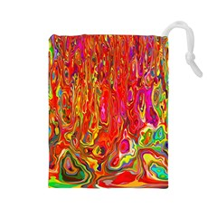 Background Texture Colorful Drawstring Pouches (large)