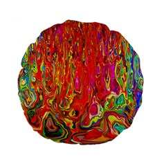 Background Texture Colorful Standard 15  Premium Flano Round Cushions