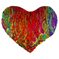 Background Texture Colorful Large 19  Premium Flano Heart Shape Cushions